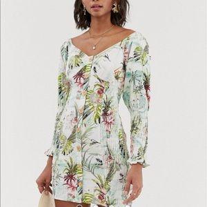 ASOS  mini dress in tropical print
